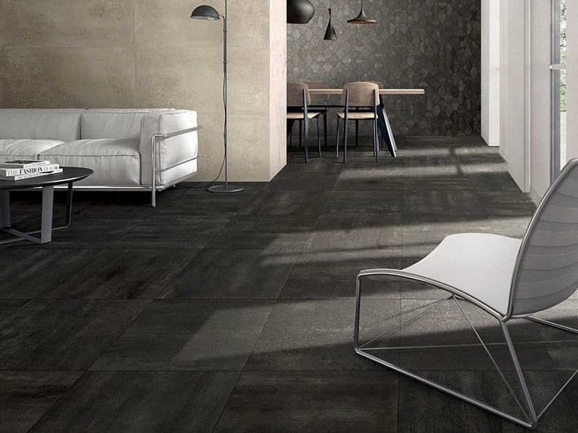 Porcelain stoneware flooring with metal effect OXYDE | Flooring - Ceramica Fioranese