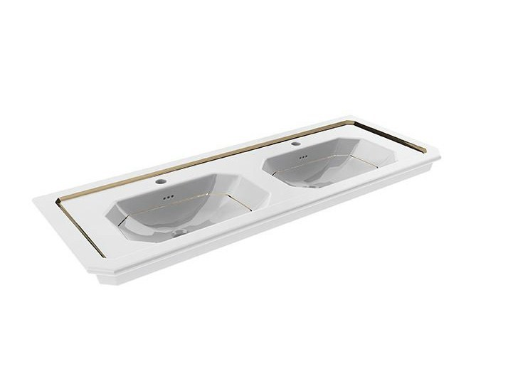 Console inset washbasin with overflow IMAGINE | Console washbasin - NOKEN DESIGN