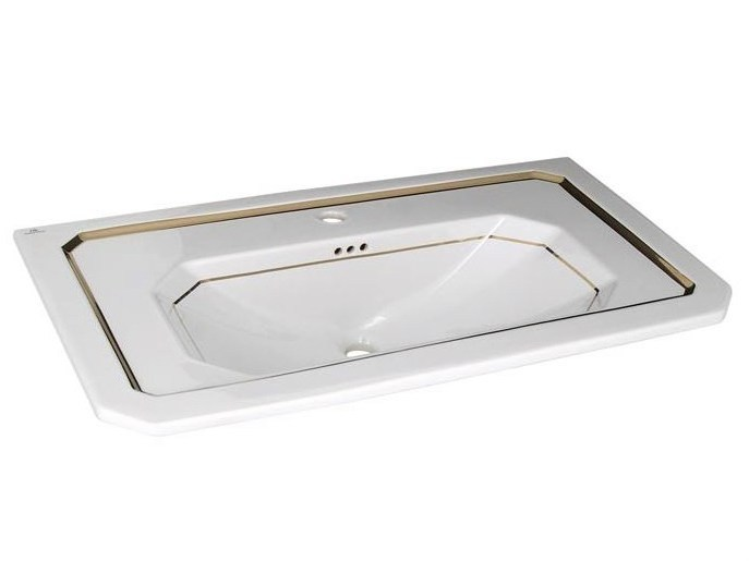 Inset washbasin with overflow IMAGINE | Washbasin with overflow - NOKEN DESIGN