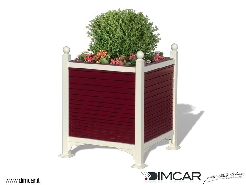Metal Flower pot Fioriera Camelia by DIMCAR