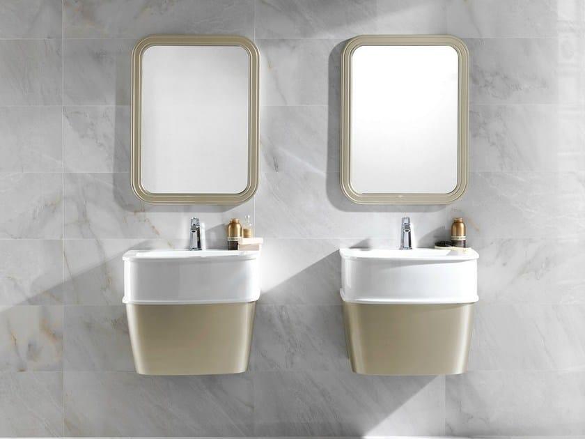 Countertop rectangular washbasin with overflow CHELSEA | Washbasin by Noken