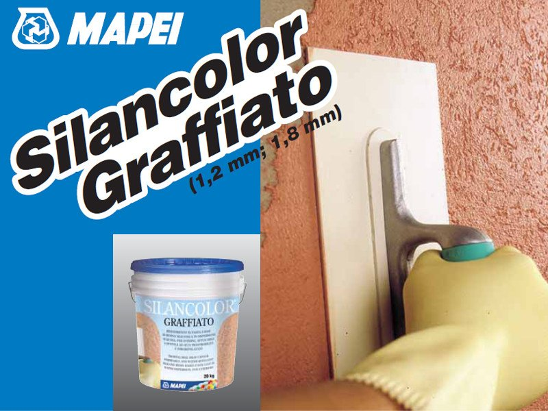 Protection for plasters SILANCOLOR GRAFFIATO - MAPEI
