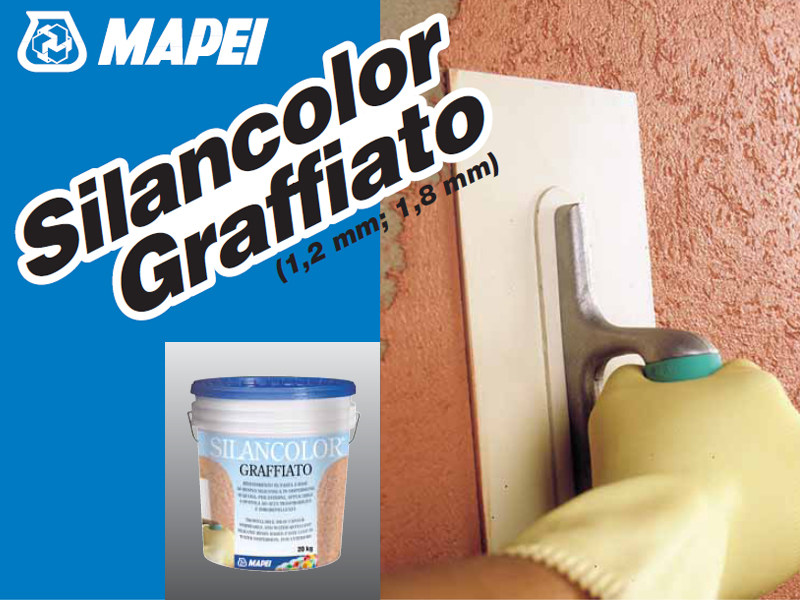 Protection for plasters SILANCOLOR GRAFFIATO by MAPEI