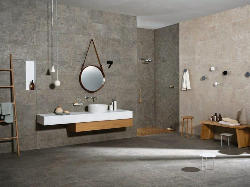 Revestimiento de pared suelo de gres porcel nico para - Gres porcelanico gris ...