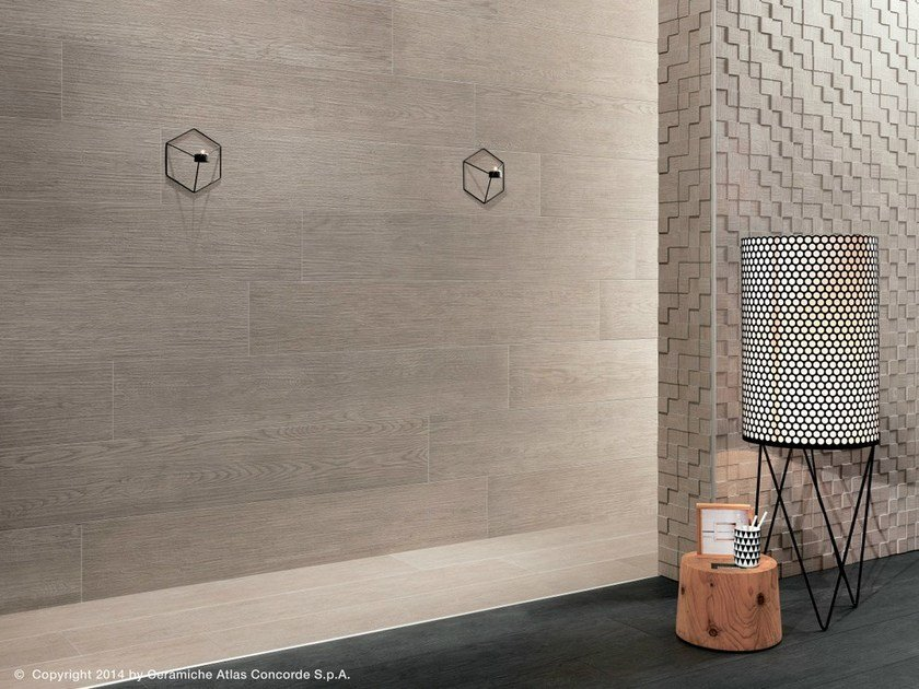 Porcelain stoneware wall tiles with wood effect BORD | Wall tiles - Atlas Concorde