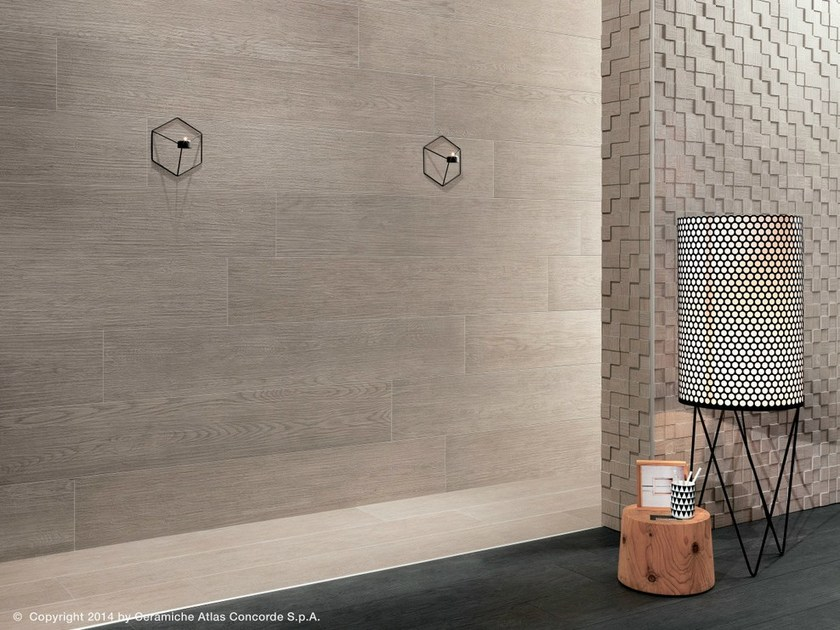 Porcelain stoneware wall tiles with wood effect BORD | Porcelain stoneware wall tiles by Atlas Concorde