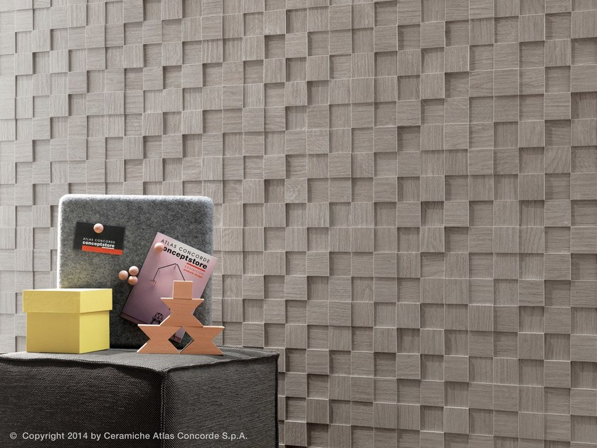 Porcelain stoneware 3D Wall Cladding BORD | Porcelain stoneware 3D Wall Cladding by Atlas Concorde
