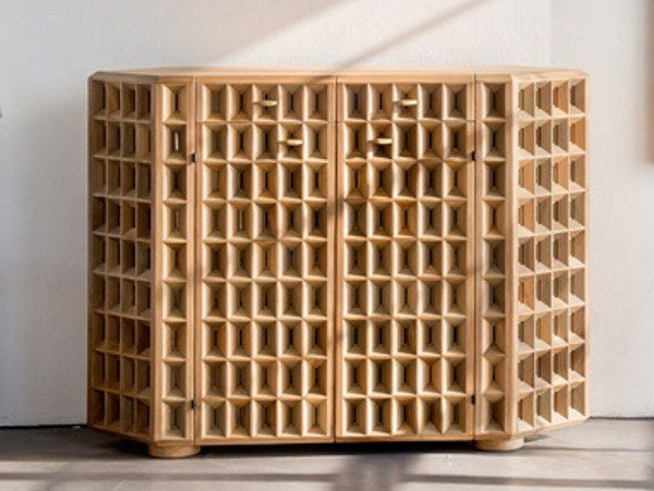 Walnut sideboard SIEPE - HABITO by Giuseppe Rivadossi