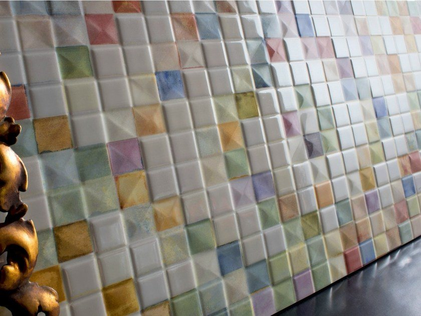 White-paste mosaic PIXEL - FERRO SPAIN