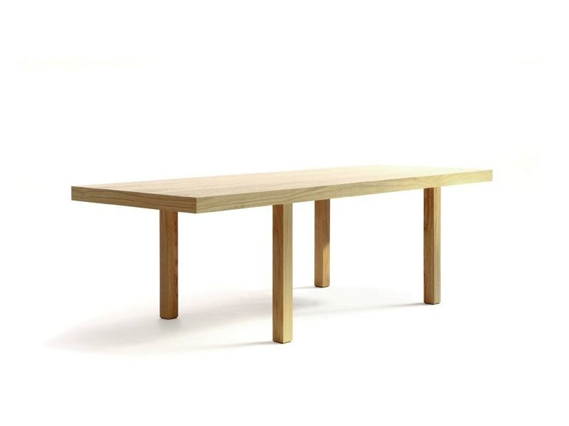 Rectangular wooden table CAMPING TABLE 220 BIS by Quinze & Milan