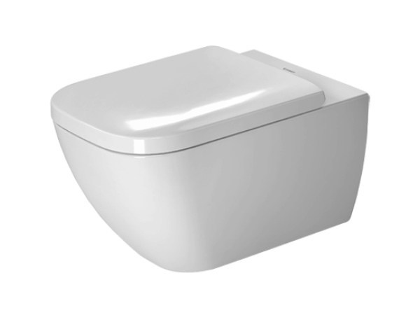 Wall-hung ceramic toilet HAPPY D.2 | Wall-hung toilet by Duravit