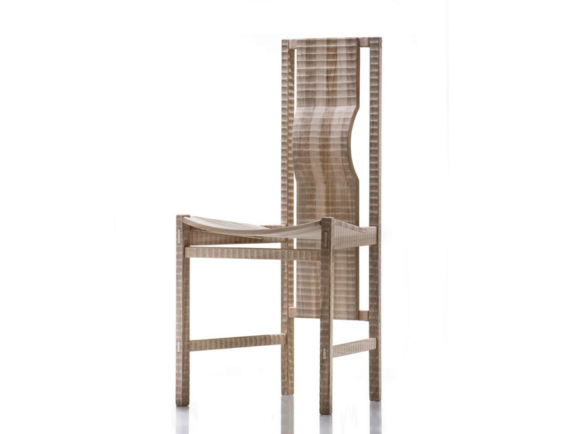 Walnut chair PISANA - HABITO by Giuseppe Rivadossi