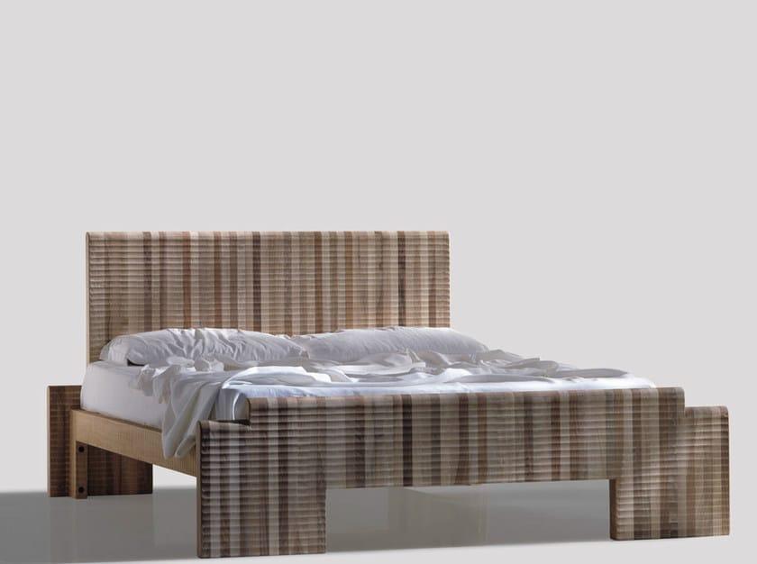 Walnut double bed DELL'EREMO - HABITO by Giuseppe Rivadossi