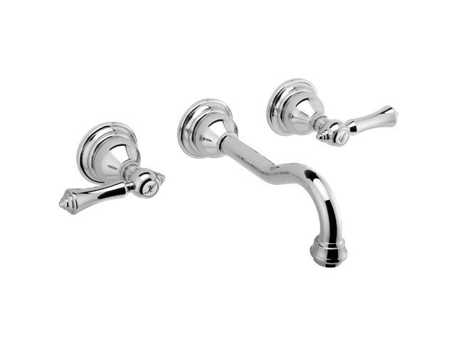 Classic style 3 hole wall-mounted washbasin tap NANTUCKET | Classic style washbasin tap by Graff Europe West