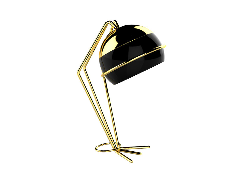 Brass table lamp with fixed arm BLACK WIDOW   Table lamp - CreativeMary