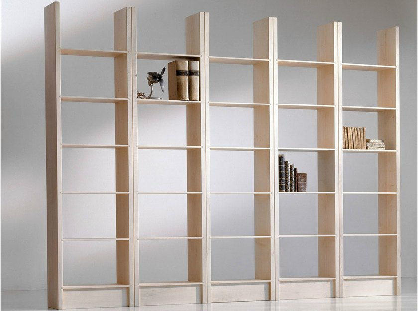 Open maple bookcase GOTTINGA - HABITO by Giuseppe Rivadossi