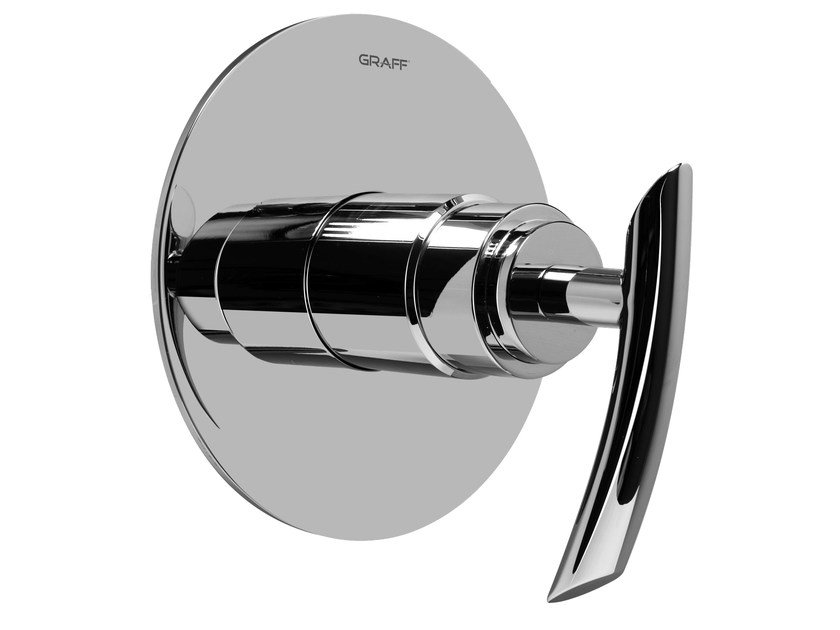 Chrome-plated single handle shower mixer TRANQUILITY | Shower mixer - Graff Europe West