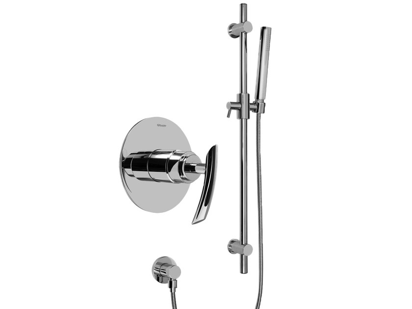 Shower wallbar with hand shower with mixer tap TRANQUILITY   Shower wallbar by Graff Europe West