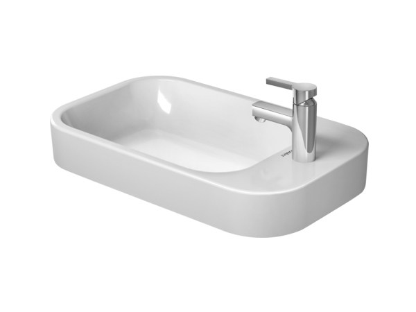 Countertop grinded ceramic washbasin with overflow HAPPY D.2 | Countertop washbasin - DURAVIT