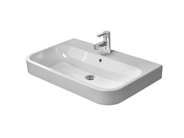Rectangular ceramic washbasin with overflow HAPPY D.2 | Ceramic washbasin - DURAVIT