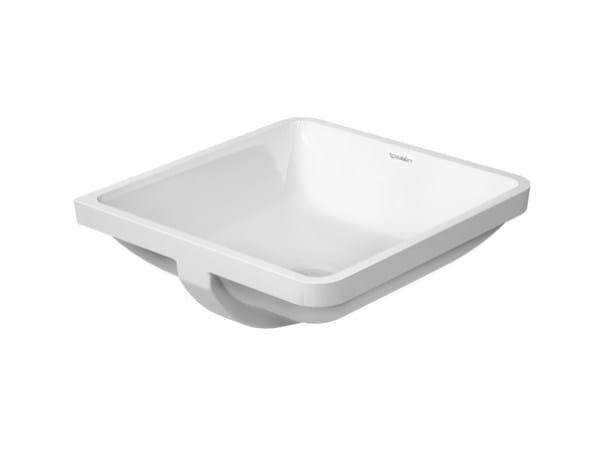 Undermount square ceramic washbasin with overflow STARCK 3 | Undermount washbasin - DURAVIT