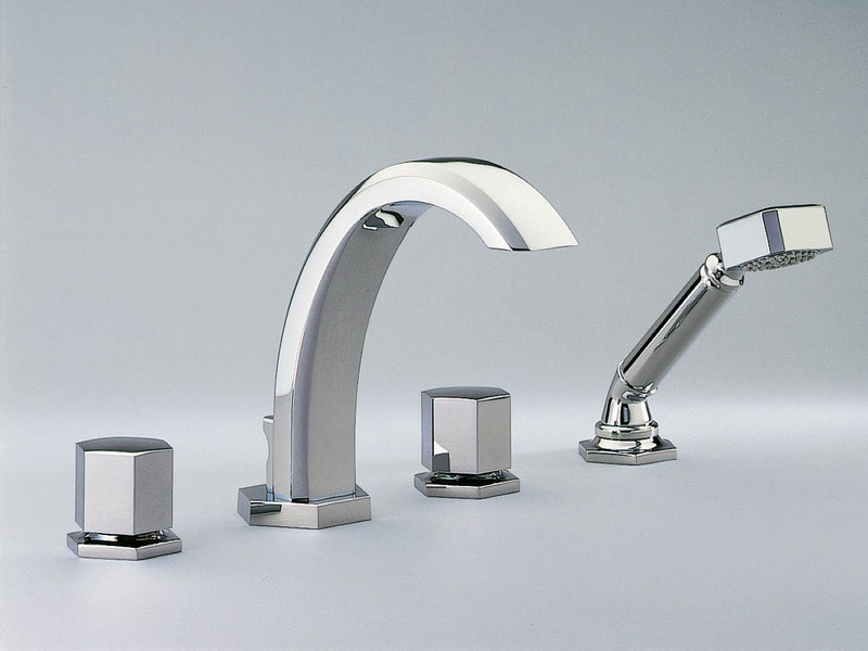 4 hole bathtub set with hand shower BEVERLEY | Bathtub set - INTERCONTACT