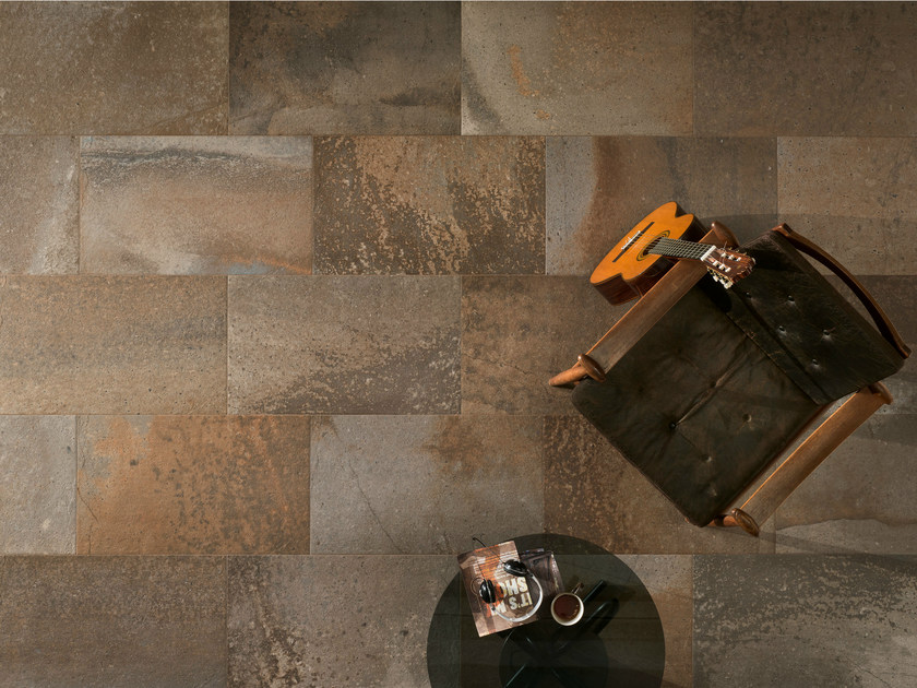 Porcelain stoneware wall/floor tiles with stone effect FUSION OCHRES - ASTOR CERAMICHE
