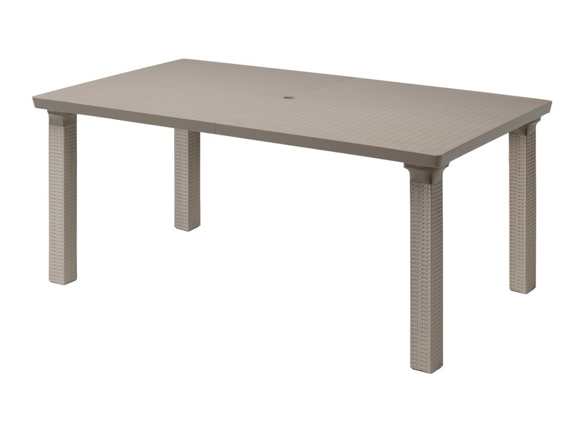 Extending technopolymer garden table TRIPLO | Extending table by SCAB DESIGN