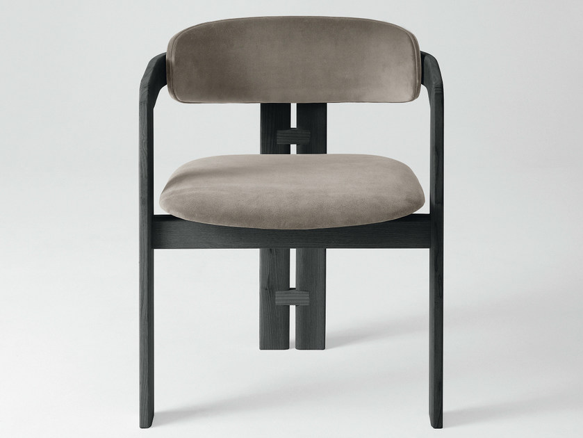 Upholstered velvet easy chair with armrests 0414 | Easy chair - Gallotti&Radice