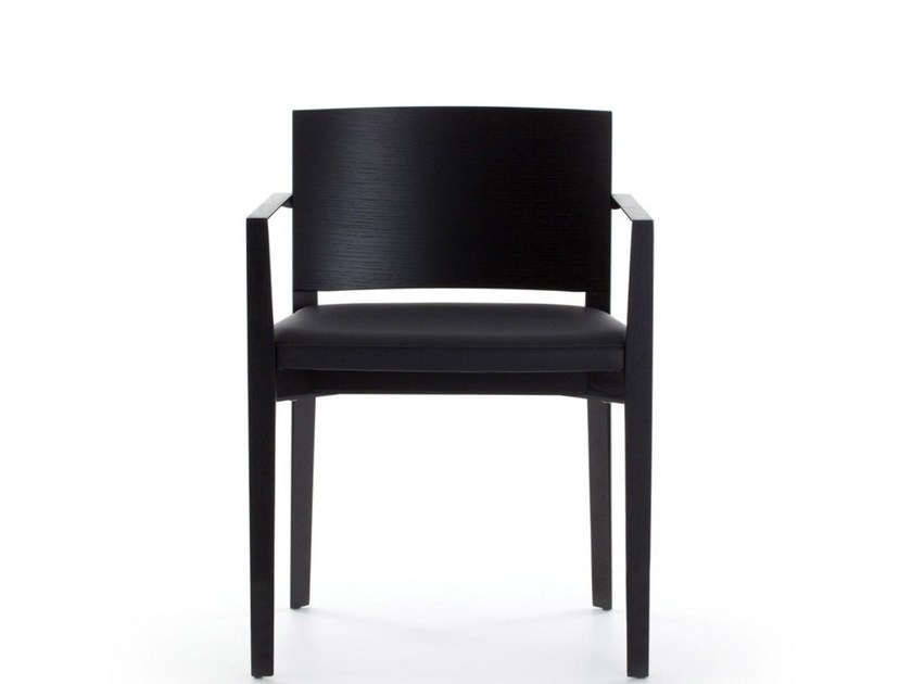 Oak chair with armrests COMO - Porro
