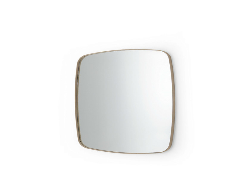 Square wall-mounted framed mirror SOFT - Gallotti&Radice