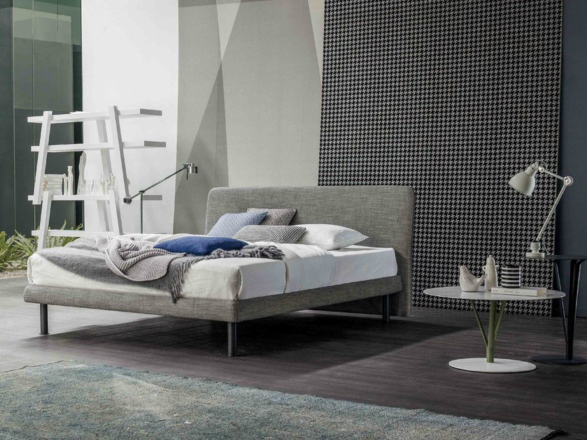 Fabric double bed with upholstered headboard DREAM ON - Bonaldo