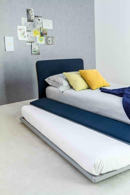 Letto singolo in tessuto con testiera imbottita true letto singolo bonaldo - Testiera letto singolo imbottita ...
