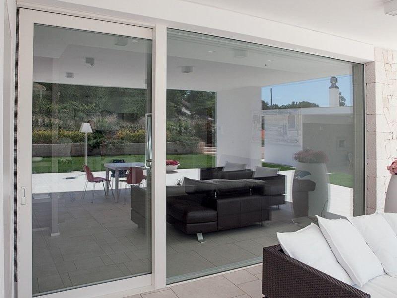 Porta finestra in alluminio e legno exter alu wglass collezione legno alluminio by de carlo casa - Finestre de carlo ...
