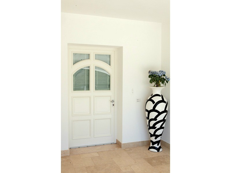 Porta d'ingresso per esterno Porta d'ingresso con pannelli in vetro - De Carlo Casa