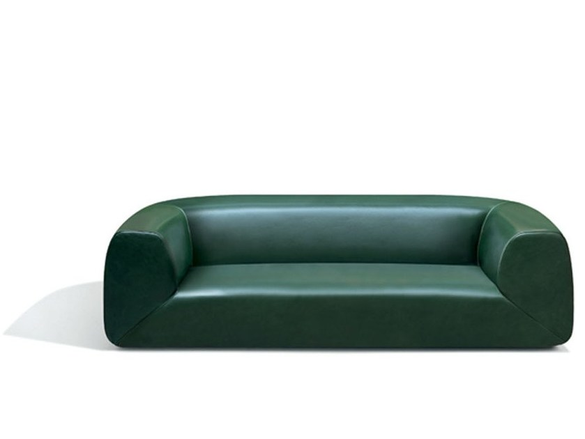 3 seater leather sofa GRAVITÀ | Leather sofa by MissoniHome