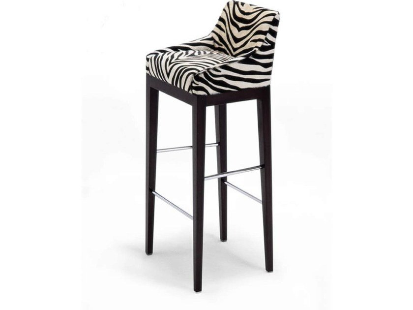 Upholstered leather counter stool FRANKLIN | Chair - HUGUES CHEVALIER