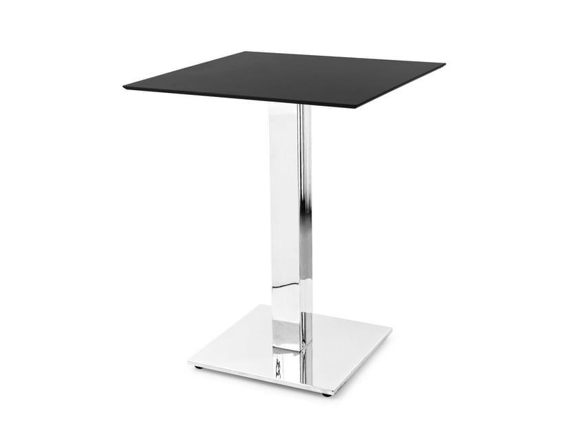 Tavolo ad altezza regolabile quadrato in hpl cocktail by for Tavolo quadrato calligaris