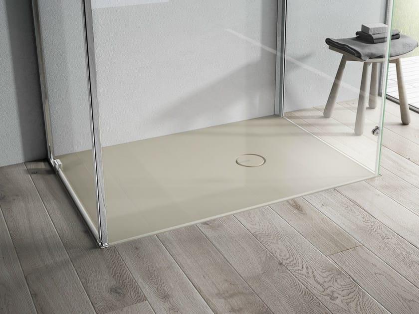 Piatto doccia filo pavimento in aquatek onda disenia for Doccia aperta