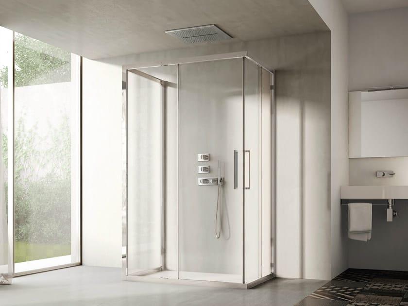 Shower cabin with sliding door LIKE 17 - IdeaGroup