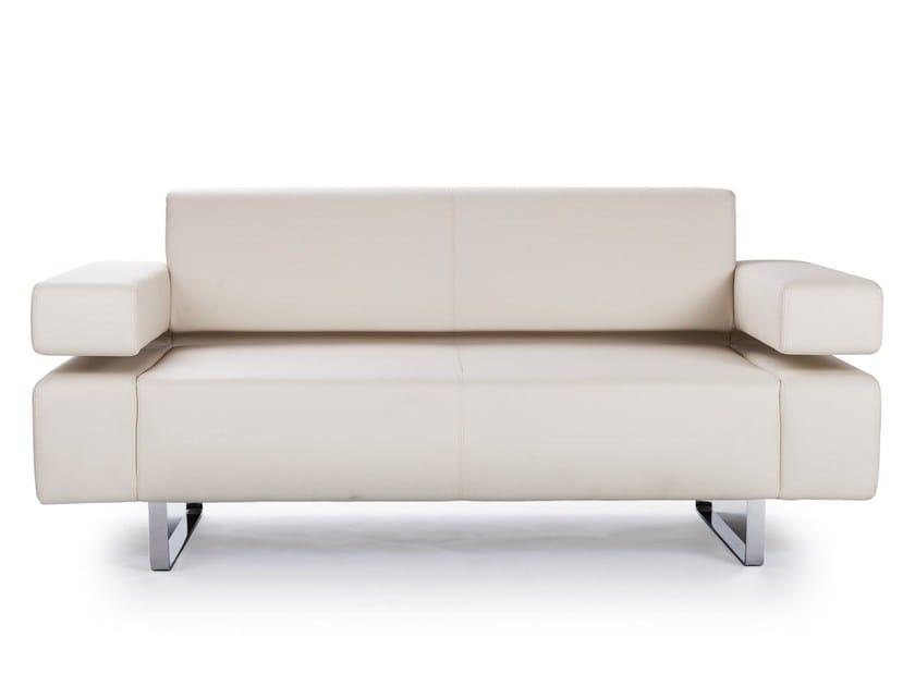 2 seater leather sofa POSEIDONE MINI | Leather sofa - True Design