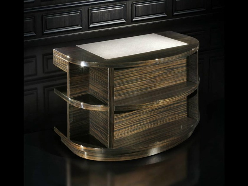 Wooden writing desk with bookcase RONDO | Writing desk by HUGUES CHEVALIER