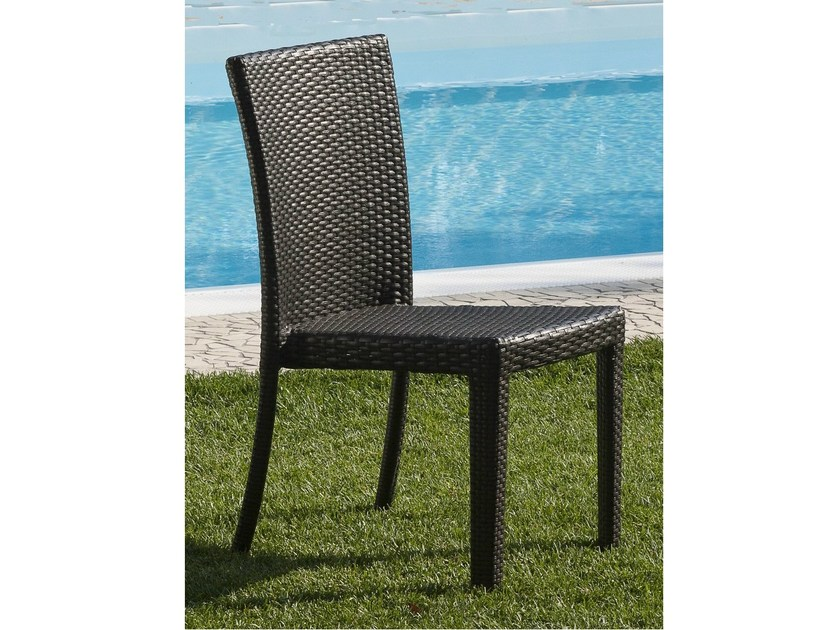 Stackable garden chair ALASSIO | Garden chair by Mediterraneo by GPB