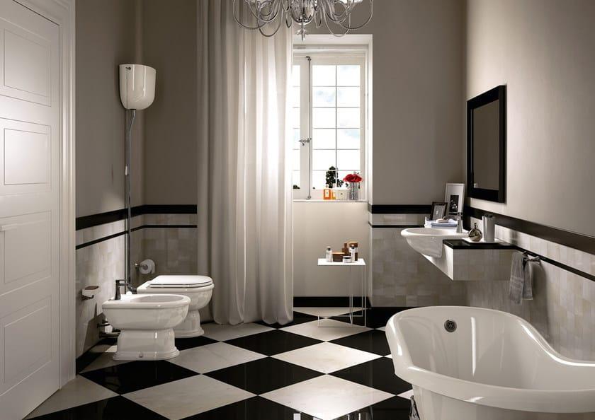Wc in ceramica con cassetta esterna fidia wc con for Servizi da bagno moderni