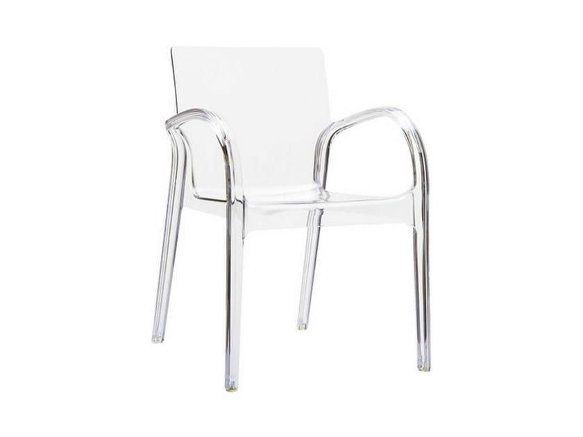 Garden chair with armrests DEJAVU by Mediterraneo by GPB
