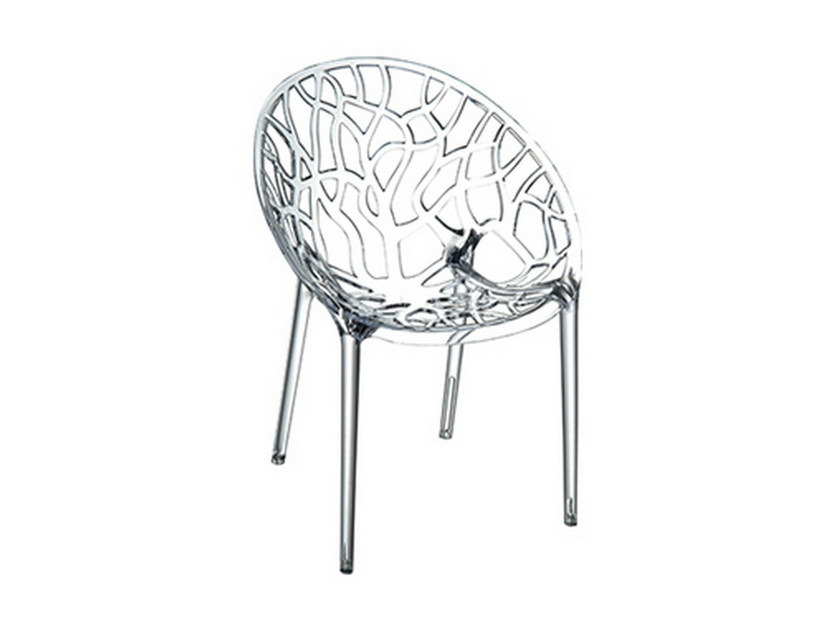 Polycarbonate garden chair CRYSTAL - Mediterraneo by GPB
