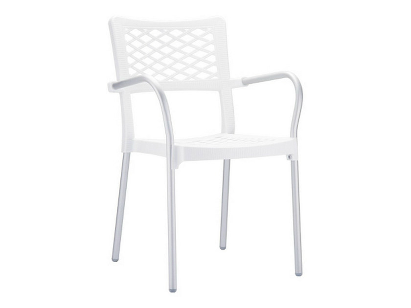 Stackable chair with armrests BELLA by Mediterraneo by GPB