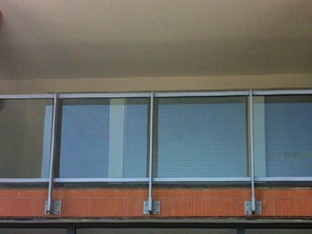 Baranda de escalera en aluminio y vidrio para balcones - Barandas de aluminio ...