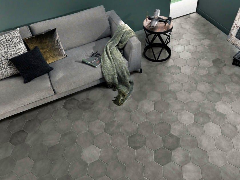 Pavimento in gres porcellanato firenze fap ceramiche - Piastrelle esagonali gres porcellanato ...