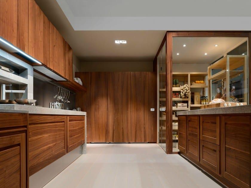 Cucina componibile in noce canaletto l 39 ottocento - L ottocento mobili ...
